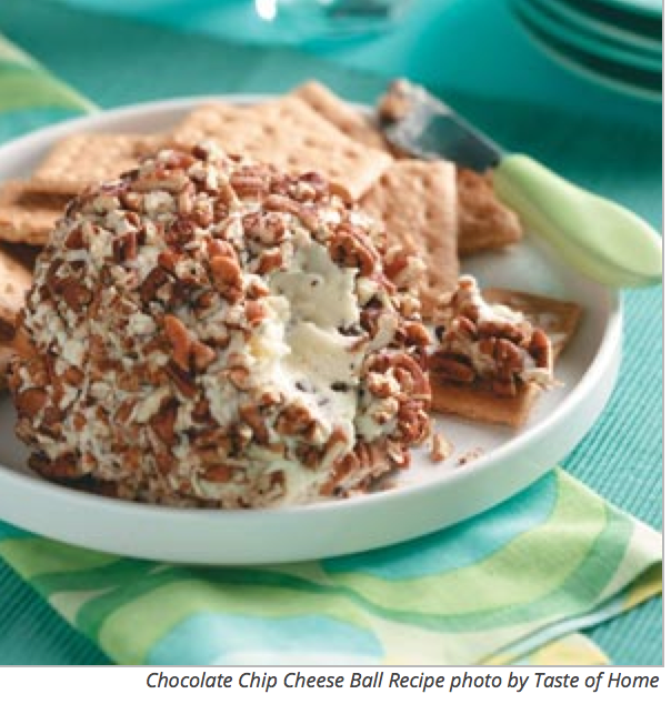 ... Sweet Surprise With This Easy To Make Chocolate Chip Cheese Ball