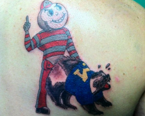 Ohio State humps Michigan Tattoo