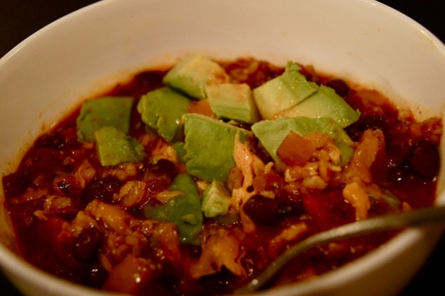 Delicious Spicy Black Bean and Brown Rice Chili Recipe ...