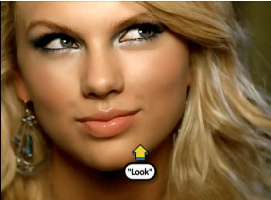 Taylor Swift   s    Our Song    On    Pop Up Video     VIDEO Taylor Swift Eye Makeup Our Song