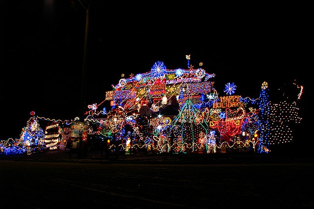 Would you want a massive christmas light display on your