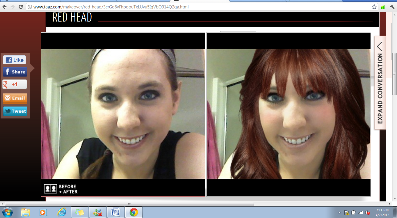 Addicting Virtual Makeover with Taaz!