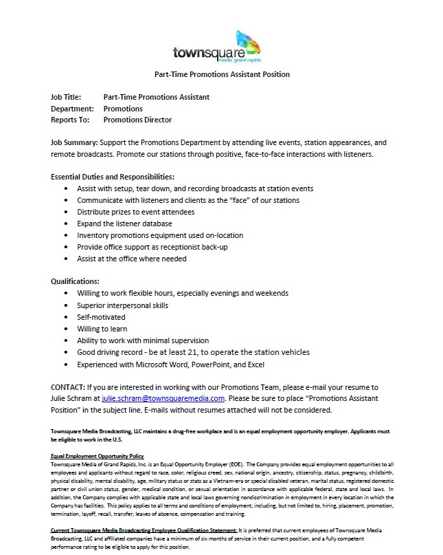 promotions assistant sample resume promotions assistant resume