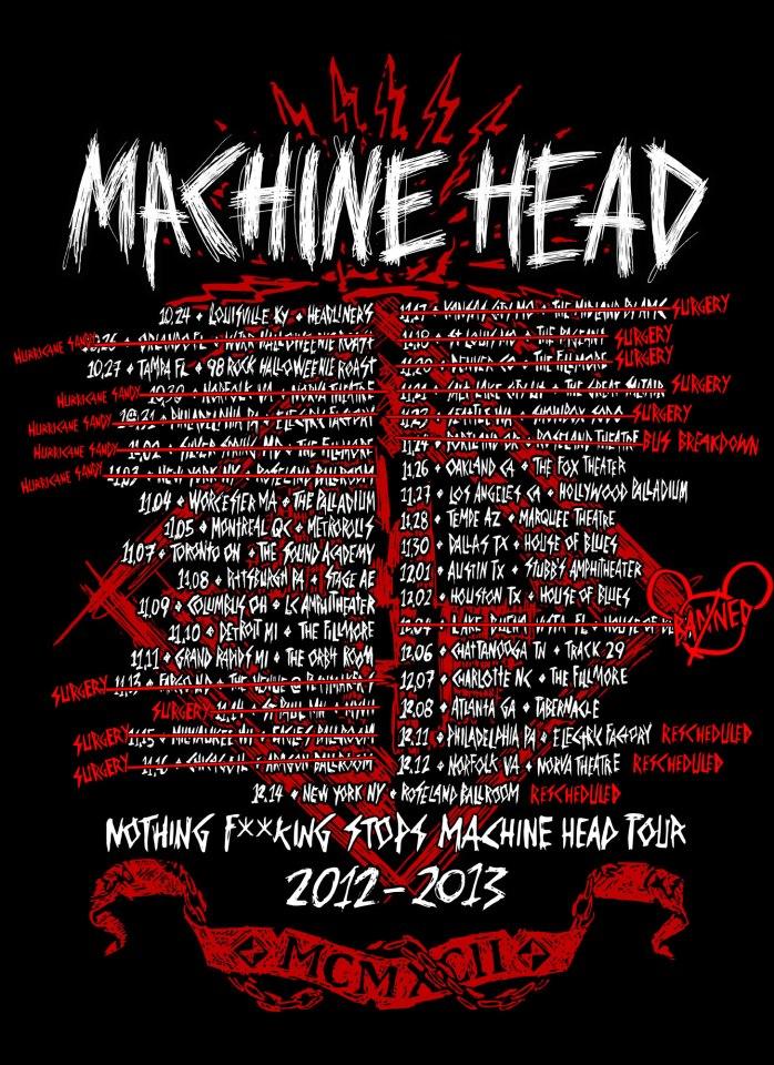 machine tour shirts