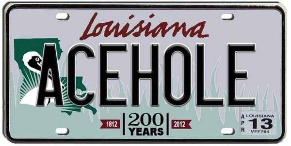 Collection Of Rejected Louisiana License Plates Pictures
