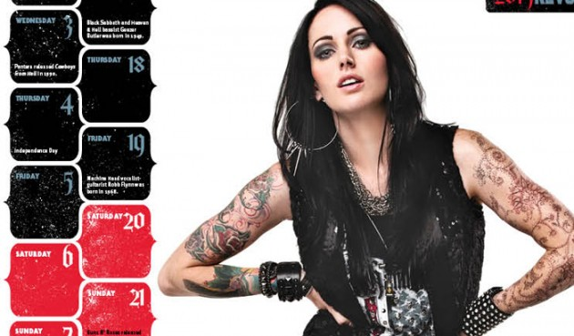 Revolver Drops 2013 Hottest Chicks In Hard Rock Calendar