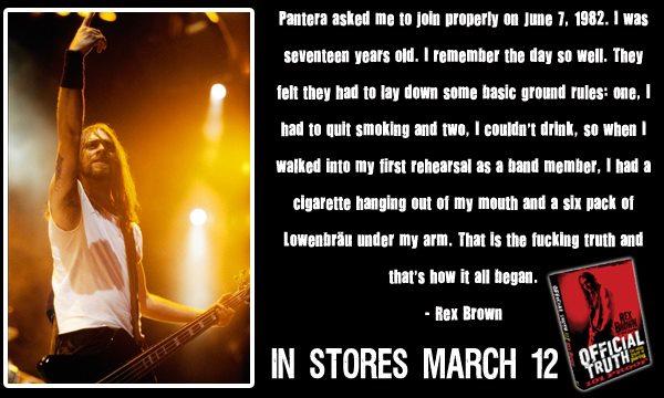 Rex Brown Book : rex brown releasing tell all pantera book march 12th ~ Vivirlamusica.com Haus und Dekorationen