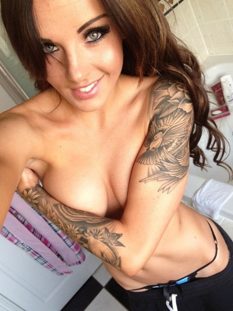 Sexiest Black Haired Tattoed Porn Star With Natural Breasts